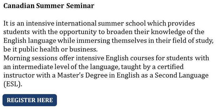 Canadian Summer Seminar